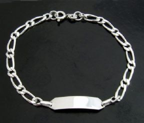 Small Child Personalised Silver ID Bracelet ref. CID3